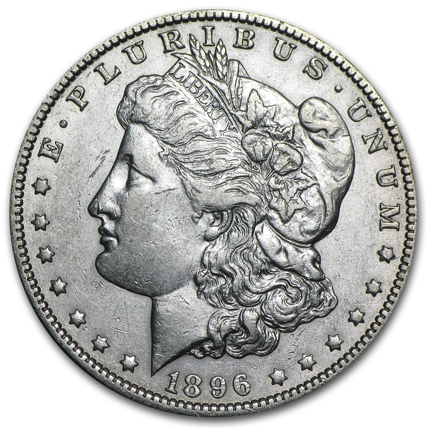 1896-O Morgan Dollar AU-50