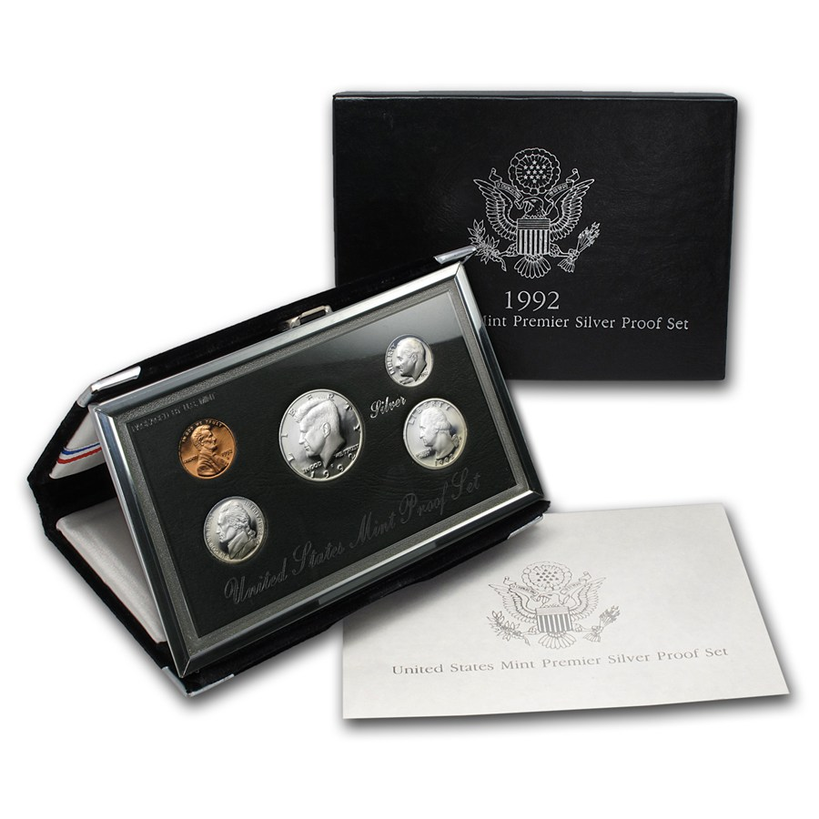 1992 U S Premier Silver Proof Set Premier Silver Proof
