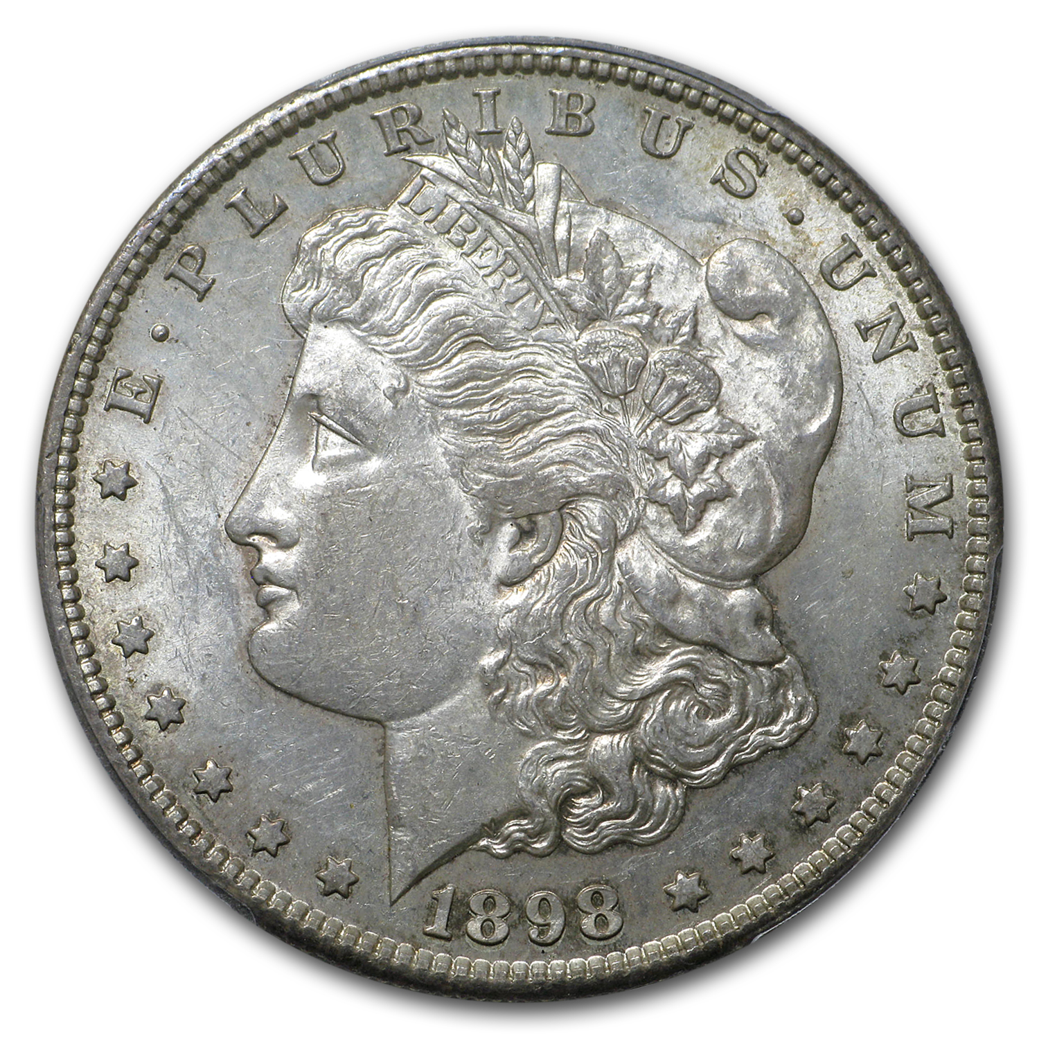 1898-S Morgan Dollar - Almost Uncirculated-58