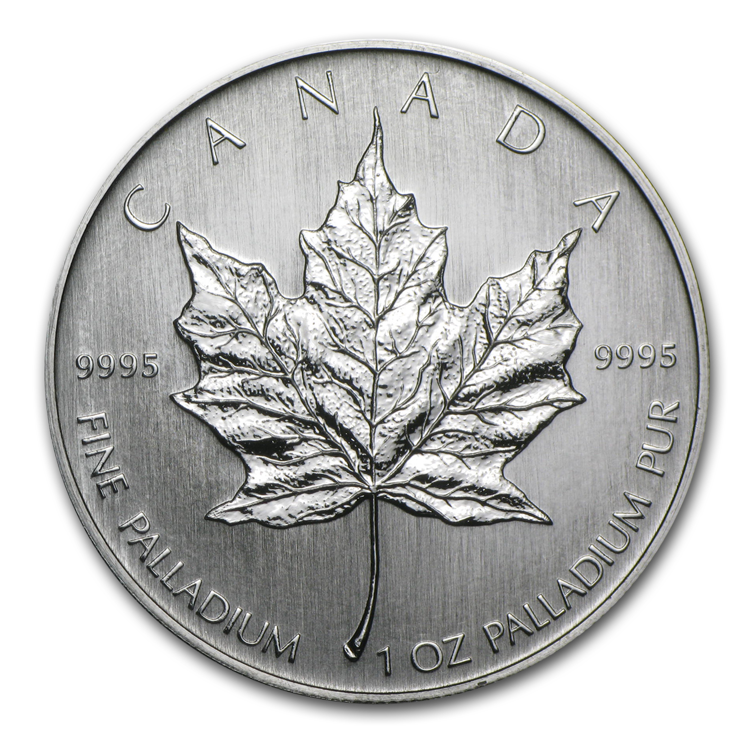 2005 1 oz Palladium Canadian Maple Leaf BU (Inaugural Issue)