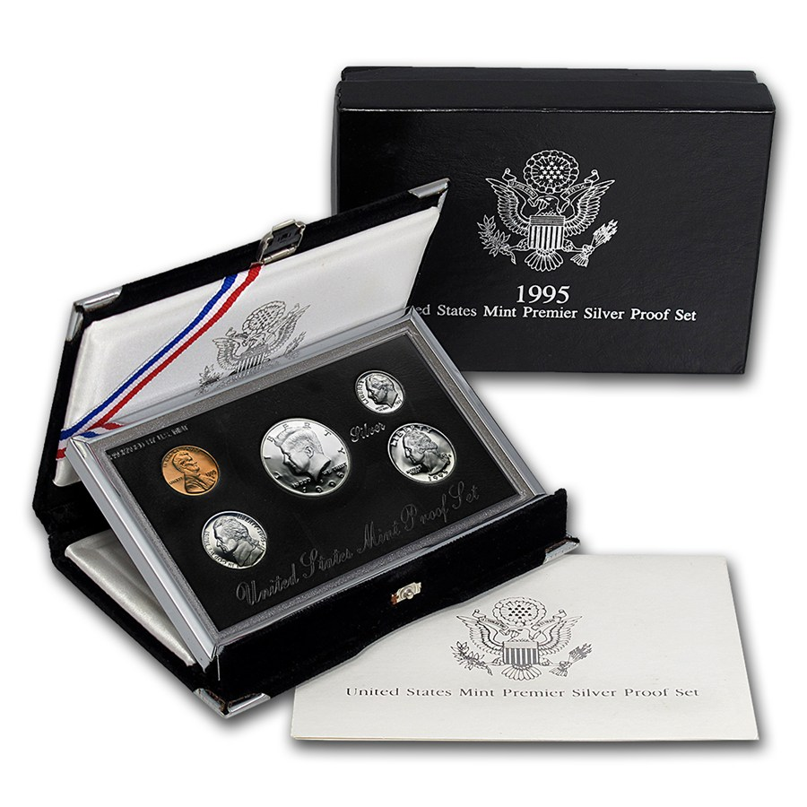1995 U S Premier Silver Proof Set Premier Silver Proof