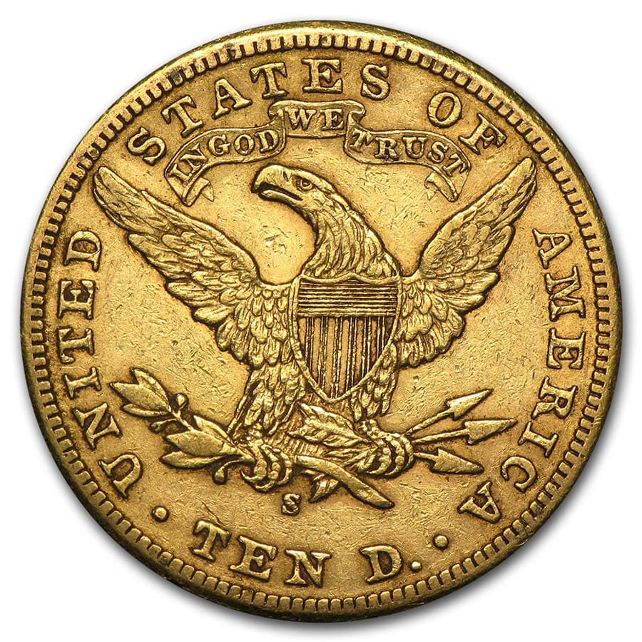 $10 Liberty Gold Eagle - Extra Fine