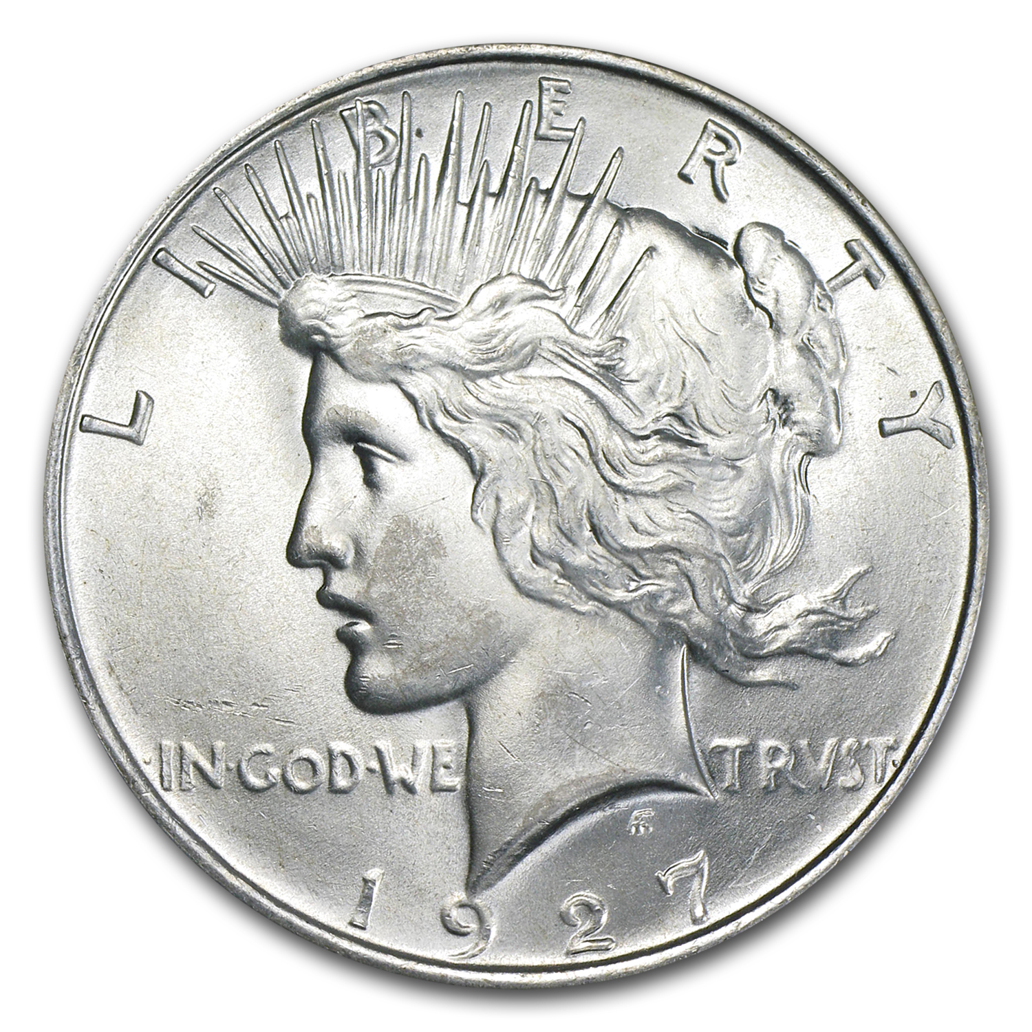 1927-D Peace Dollar - Brilliant Uncirculated