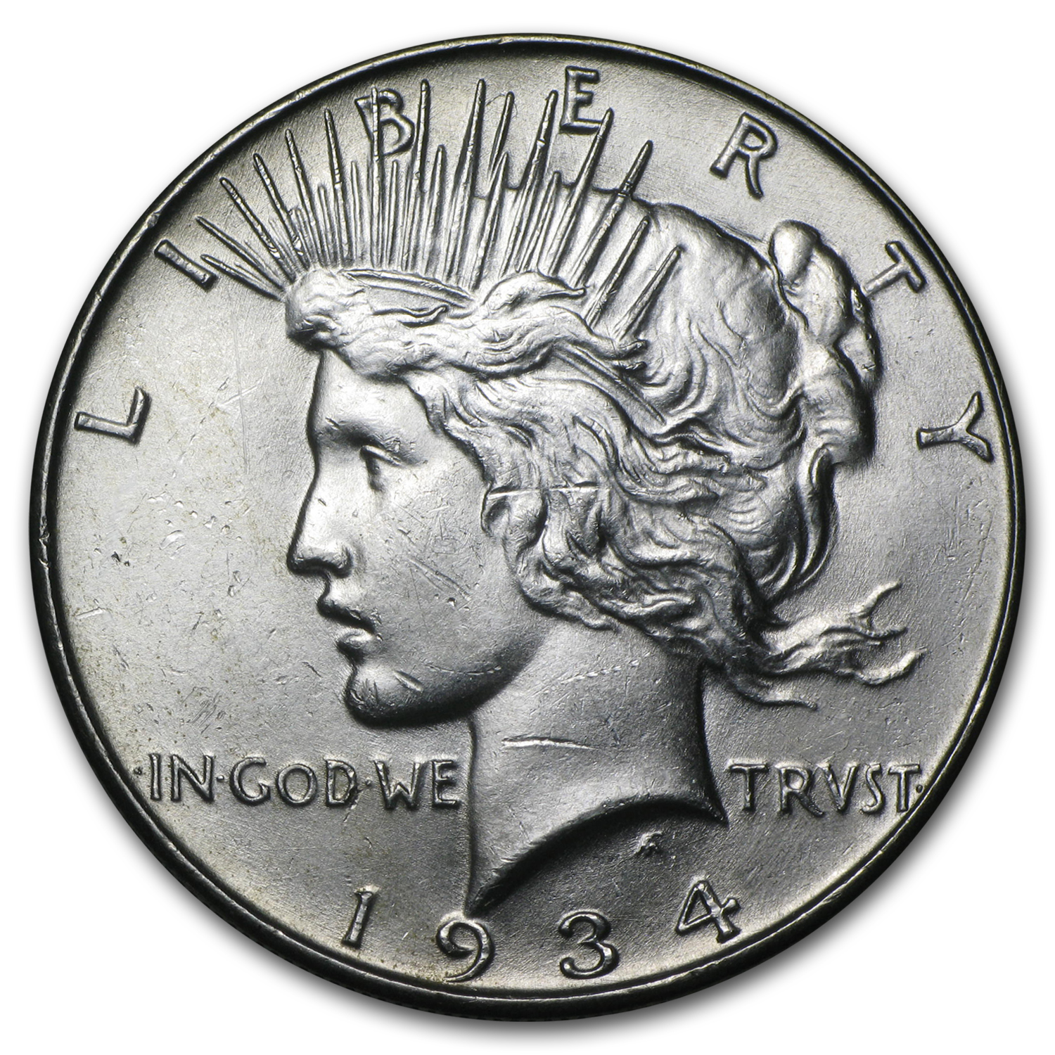 1934 Peace Dollar - Brilliant Uncirculated