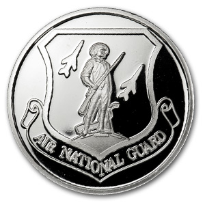 1 oz Silver Rounds - Air National Guard (w/Box & Capsule)