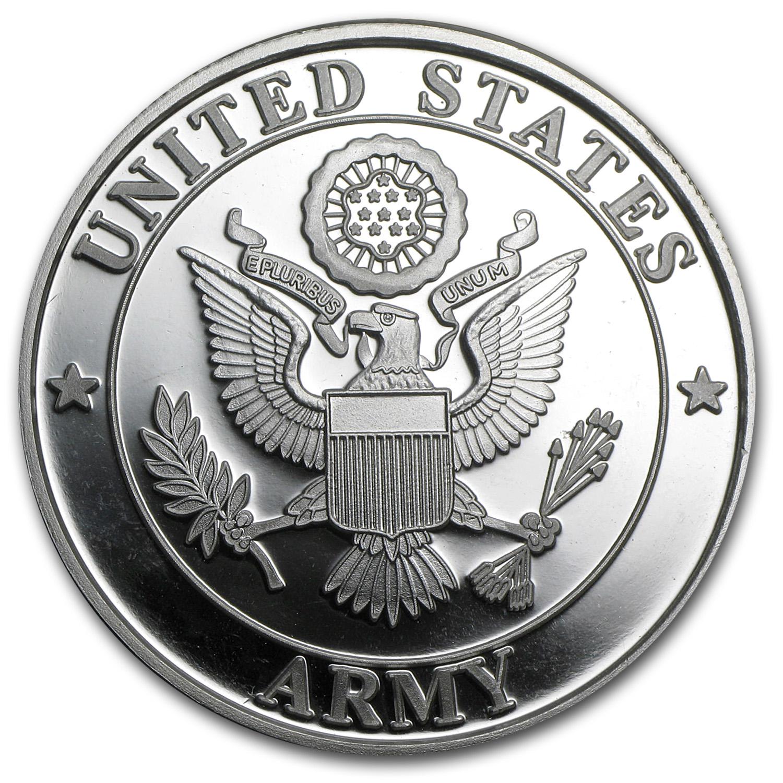 1 Oz Silver Round U S Army W Box Amp Capsule Armed