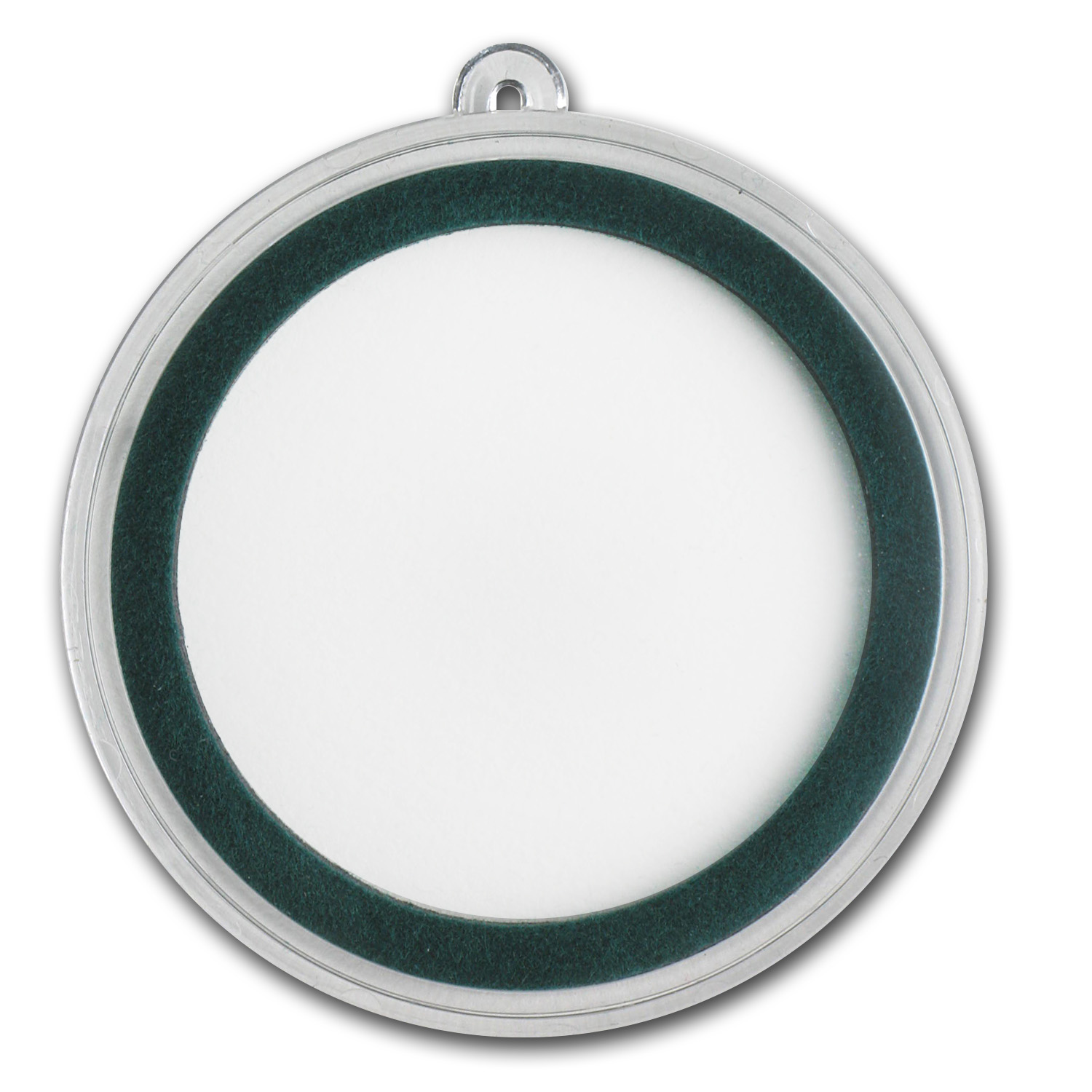 Ornament Capsule for Silver Rounds - 39mm (Green Ring)