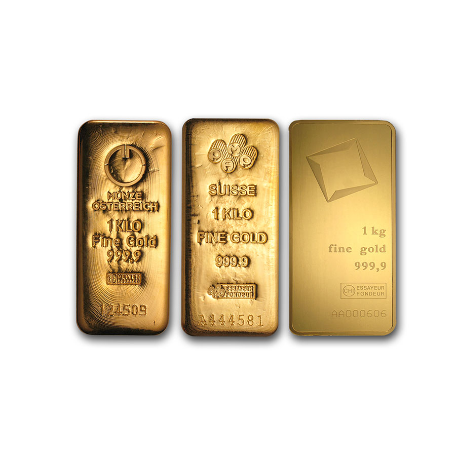 1 Kilo Gold Bars - Various Mints (32.15 oz)