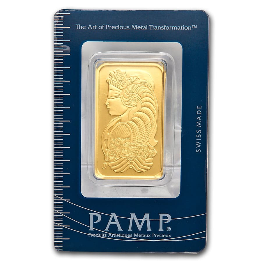 1 oz Gold Bar - Pamp Suisse Lady Fortuna (In Assay)
