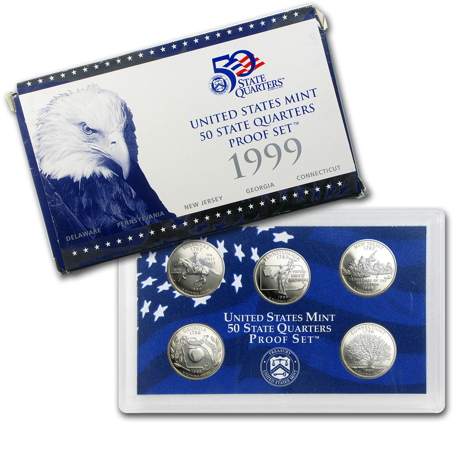 1999 50 State Quarters Proof Set