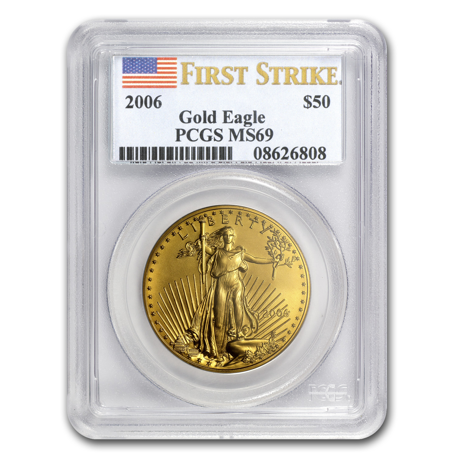 2006 1 oz Gold American Eagle MS-69 PCGS (FS)