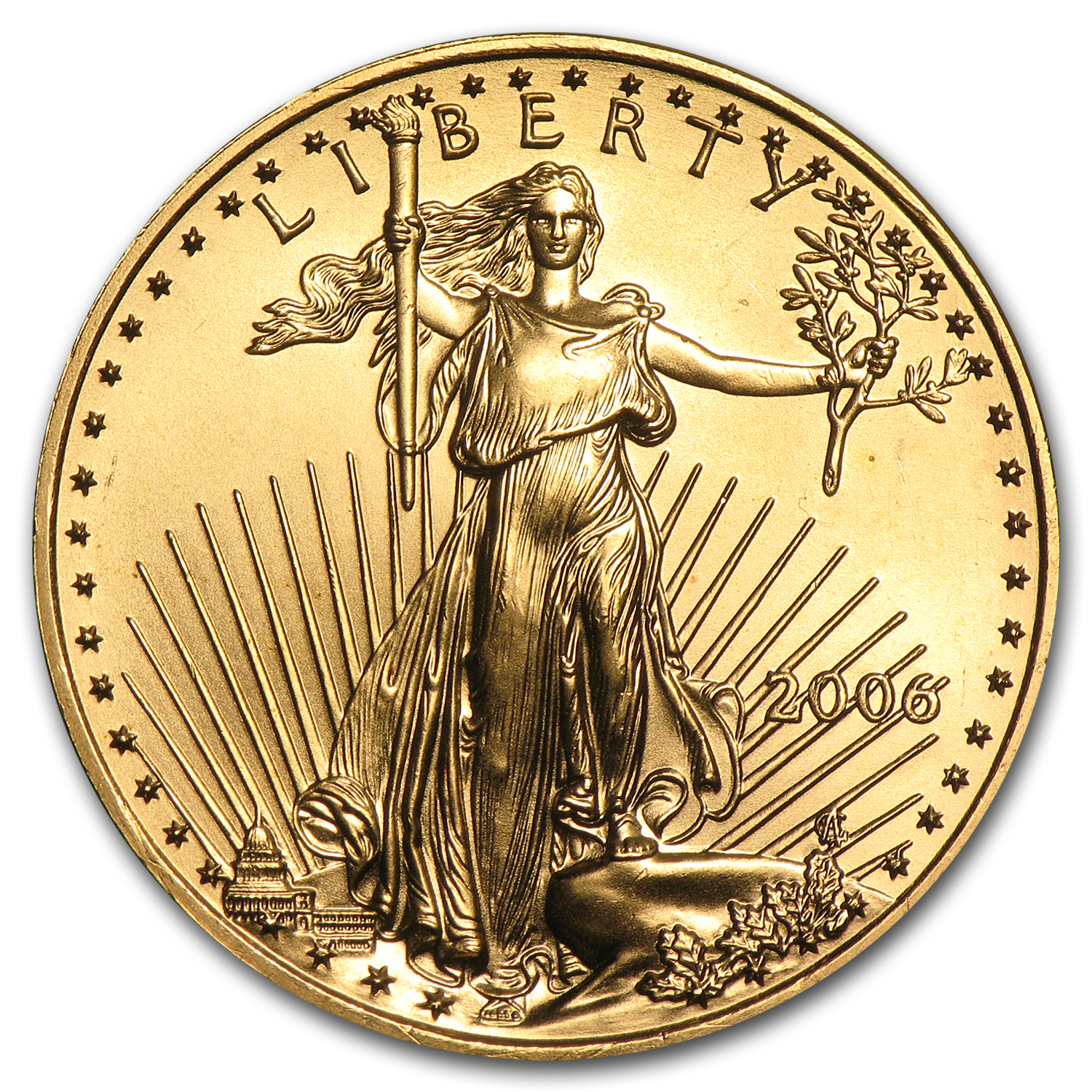 2006 1/2 oz Gold American Eagle BU