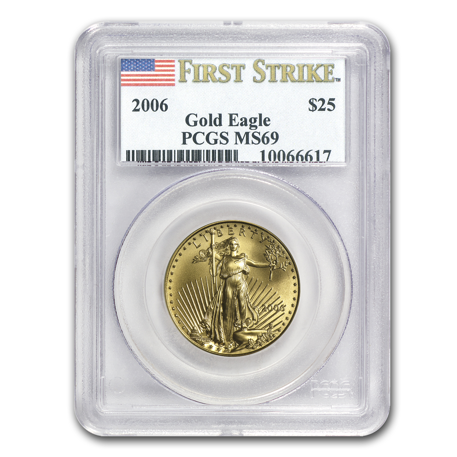 2006 1/2 oz Gold American Eagle MS-69 PCGS (FS)