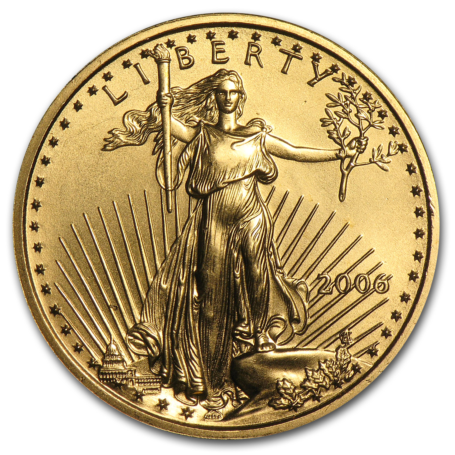 2006 1/4 oz Gold American Eagle BU