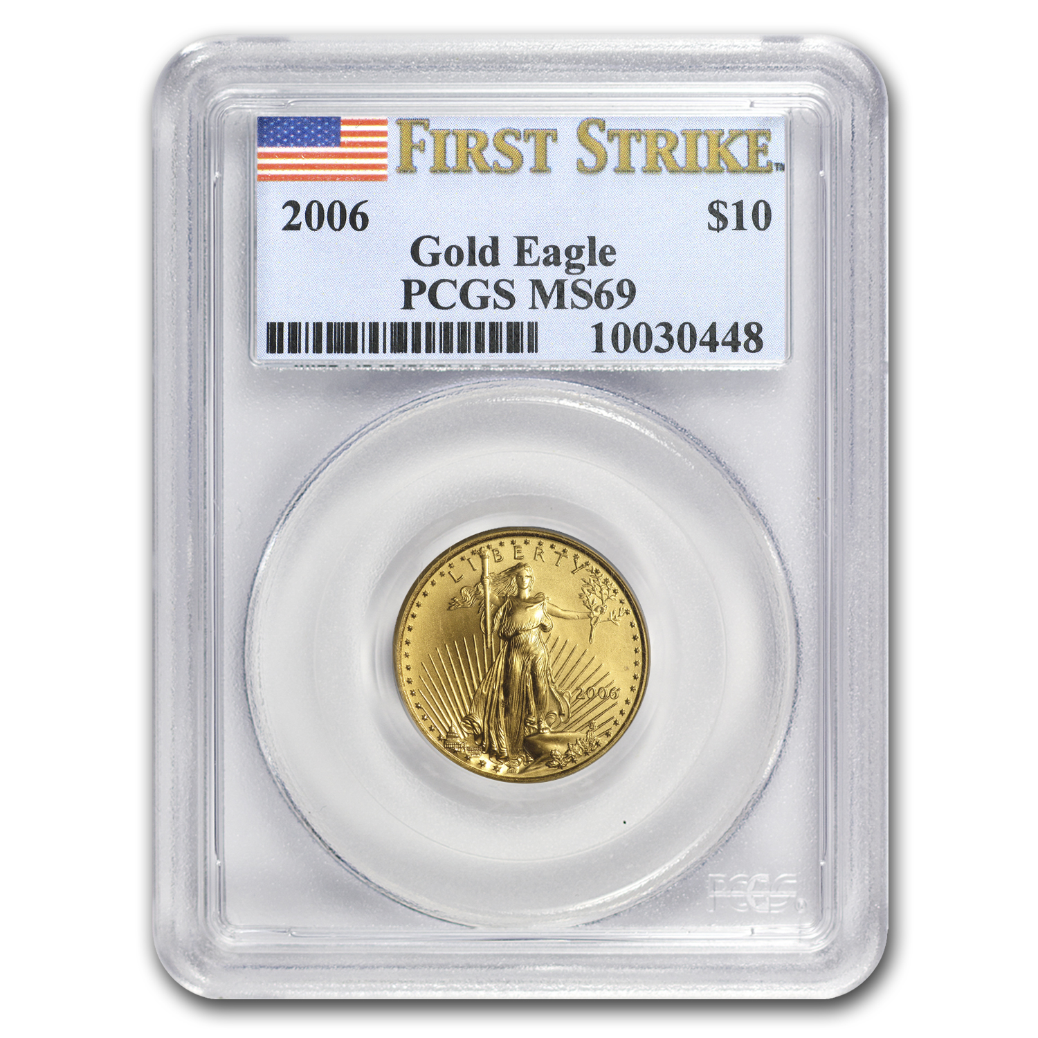 2006 1/4 oz Gold American Eagle MS-69 PCGS (FS)