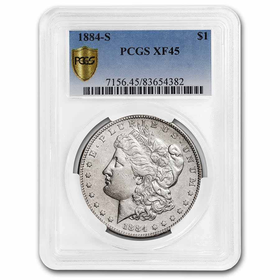 1884-S Morgan Dollar XF-45 PCGS