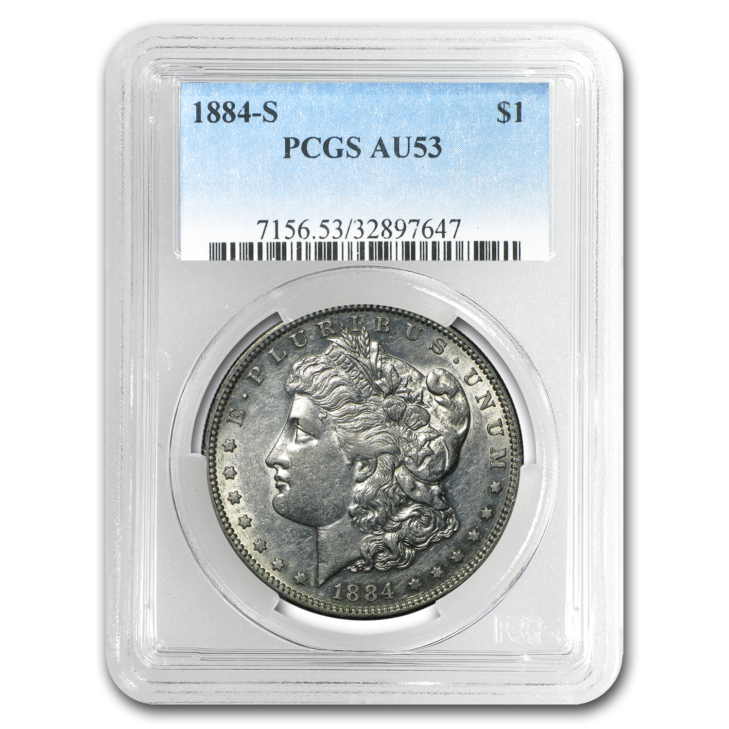 1884-S Morgan Dollar AU-53 PCGS