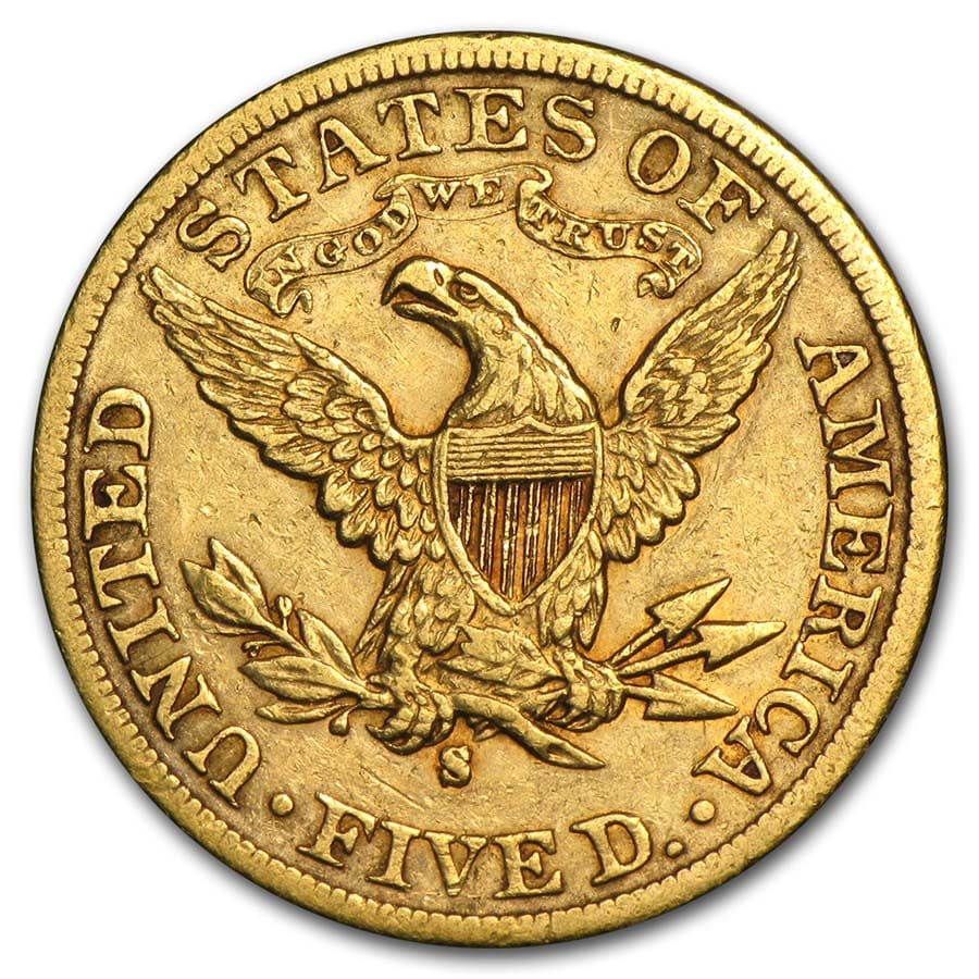 $5 Liberty Gold Half Eagle Extra Fine