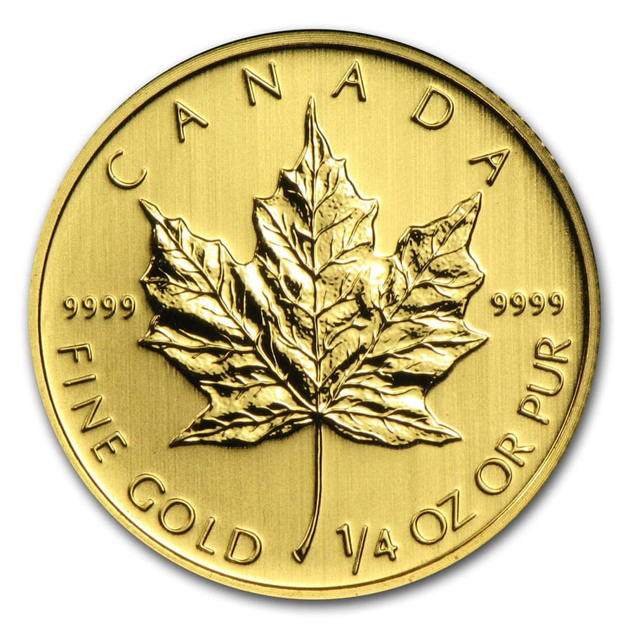 Canadian 1 4 Oz Gold Maple Leaf Coin For Sale Apmex Gold