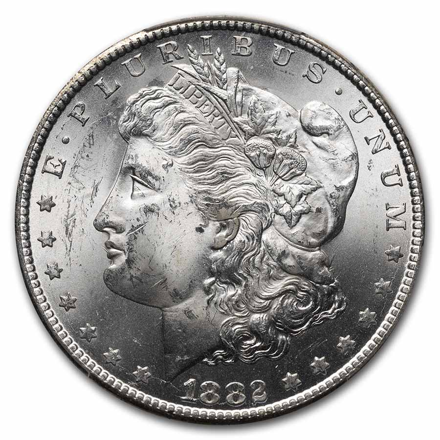 1882-CC Morgan Dollar - MS-64 PCGS