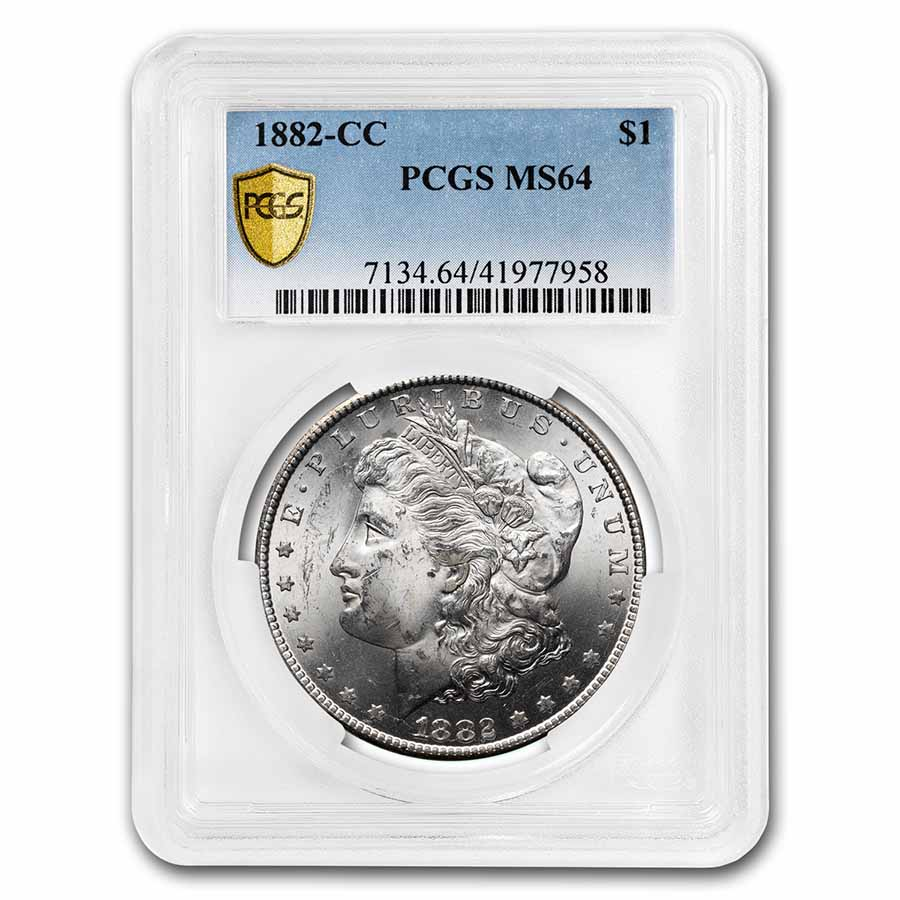 1882-CC Morgan Dollar MS-64 PCGS