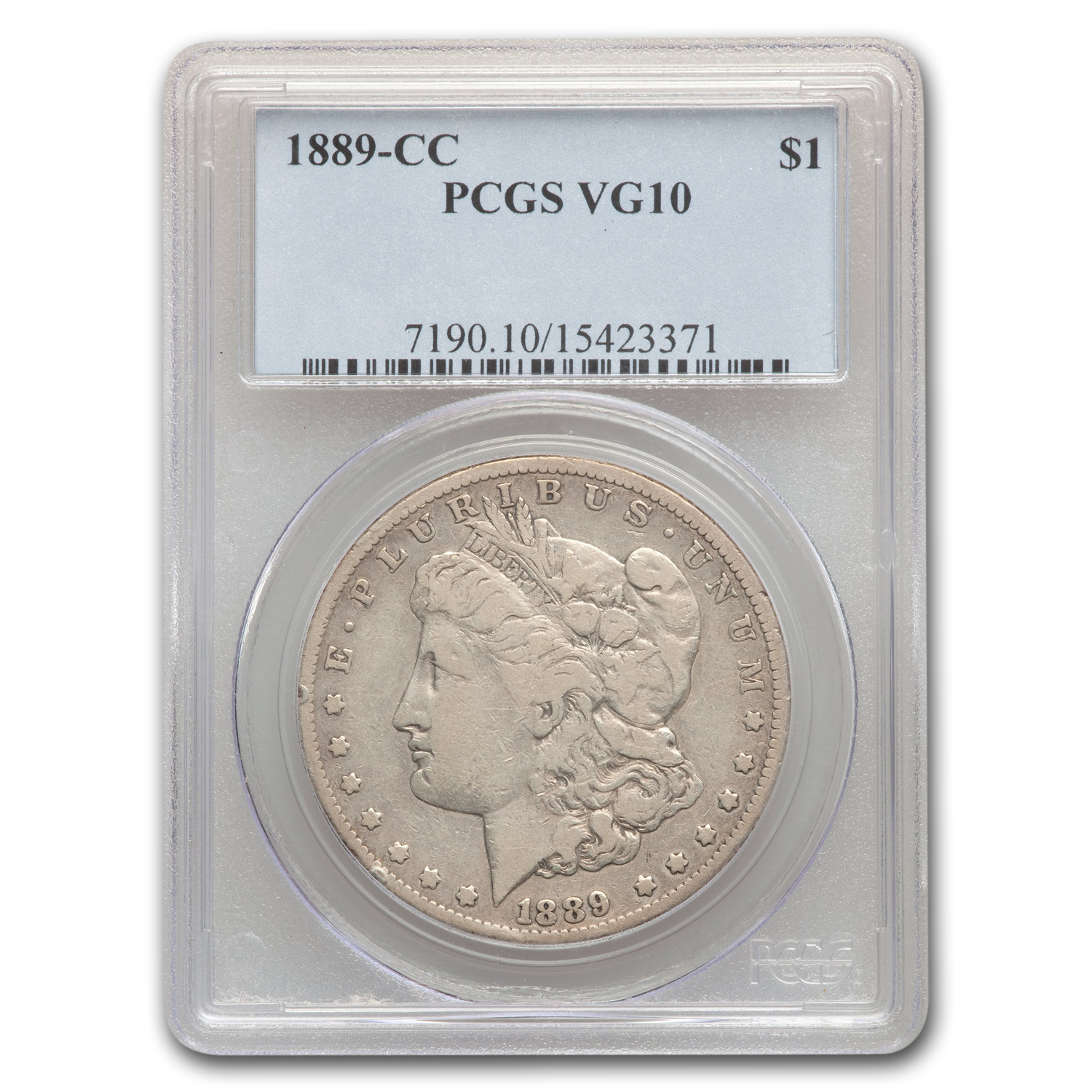1889-CC Morgan Dollar VG-10 PCGS