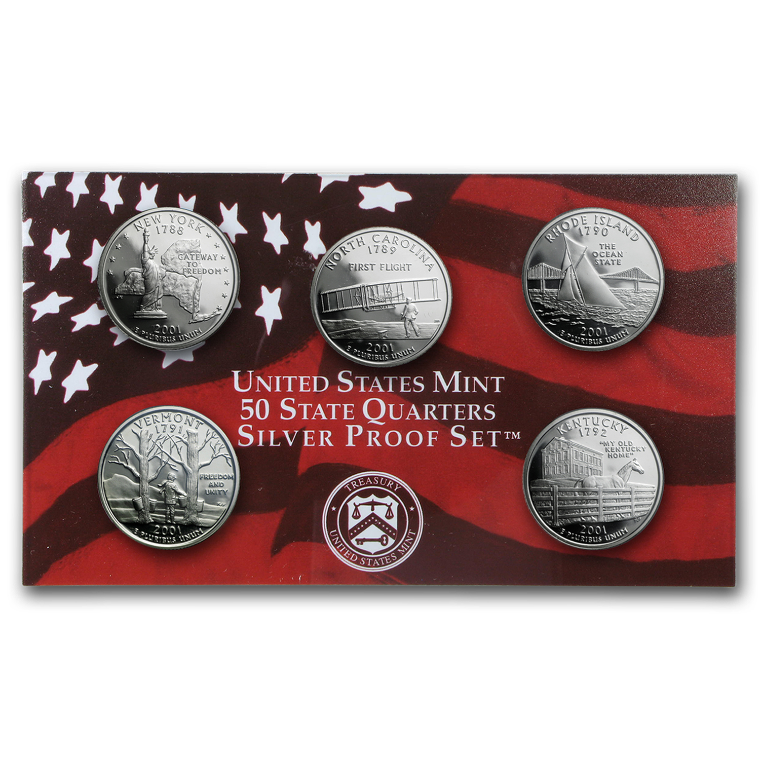2001 Silver Proof Set