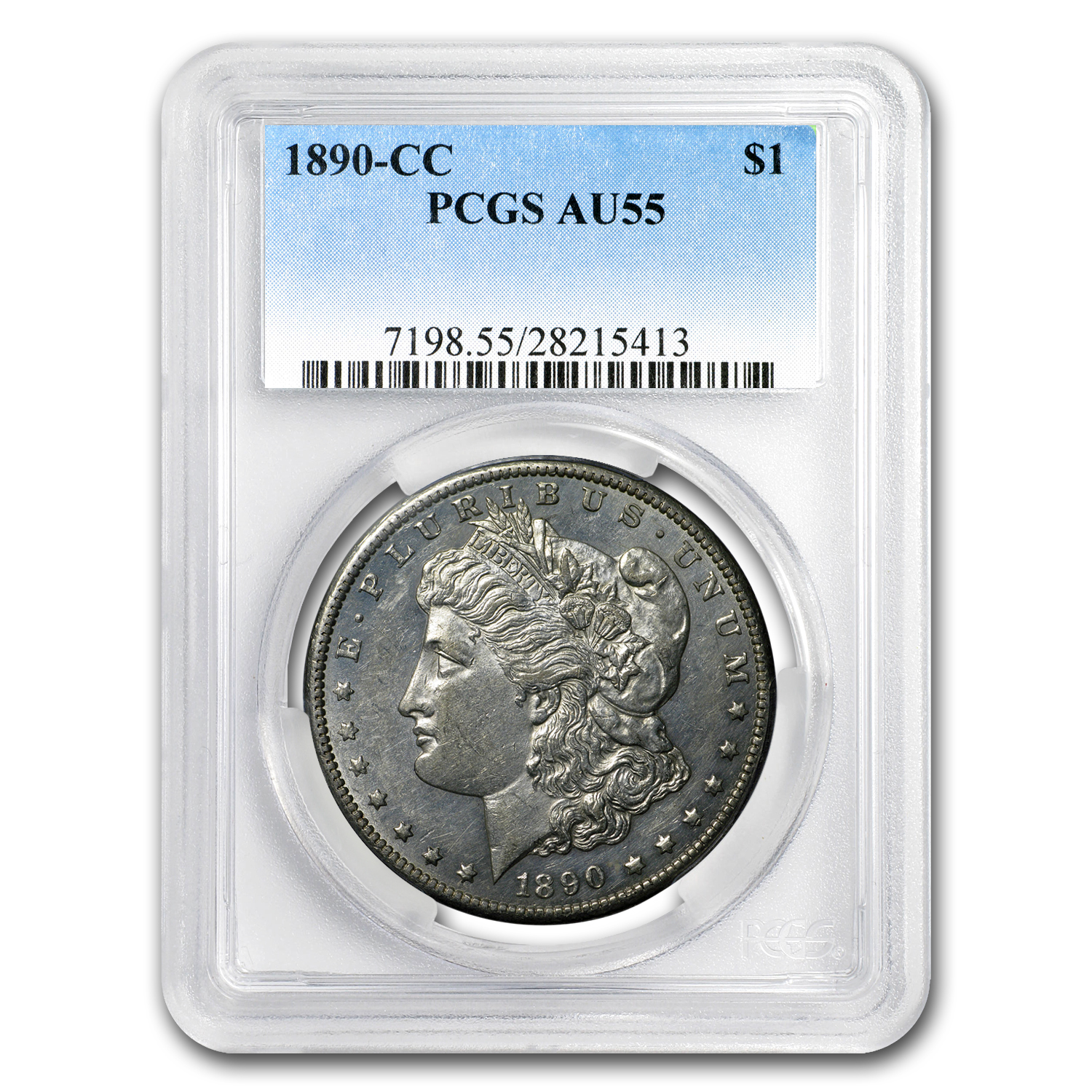 1890-CC Morgan Dollar AU-55 PCGS