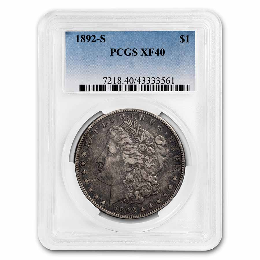 1892-S Morgan Dollar XF-40 PCGS