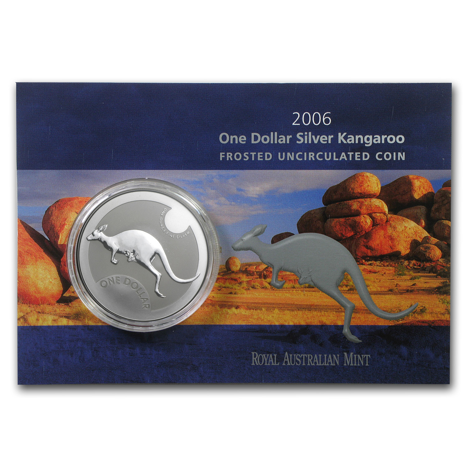 2006 Australia 1 oz Silver Kangaroo (In Display Card)