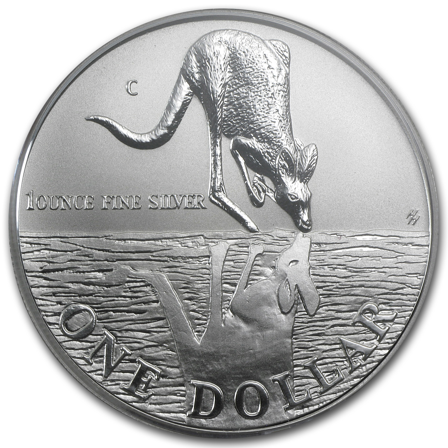 1997 Australia 1 oz Silver Kangaroo (In Display Card)