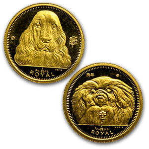 Gibraltar Gold 1/25 oz Dog BU/Proof (Random Dates)