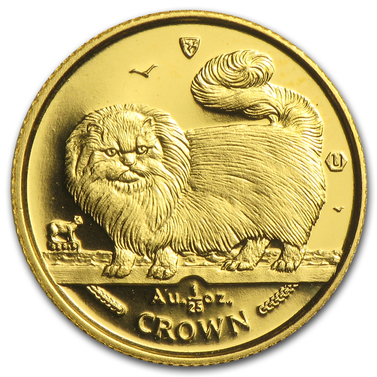 Isle of Man 1/25 oz Gold Cat BU/Proof (Random)