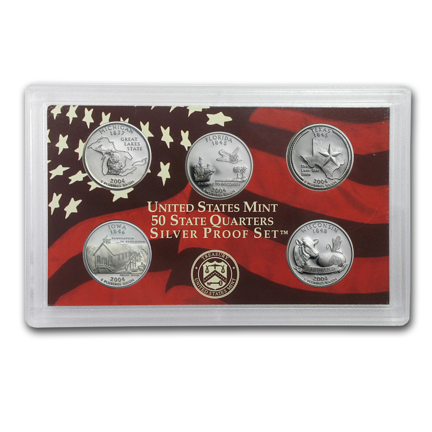 2004 State Quarters Silver Proof Set