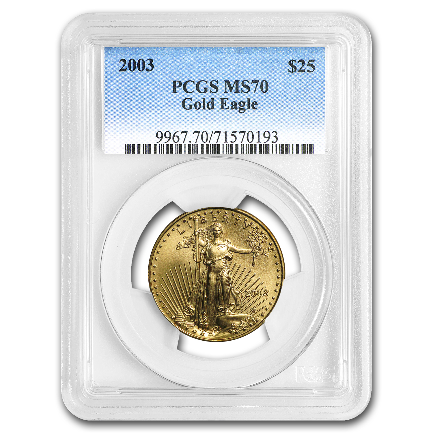 2003 1/2 oz Gold American Eagle MS-70 PCGS
