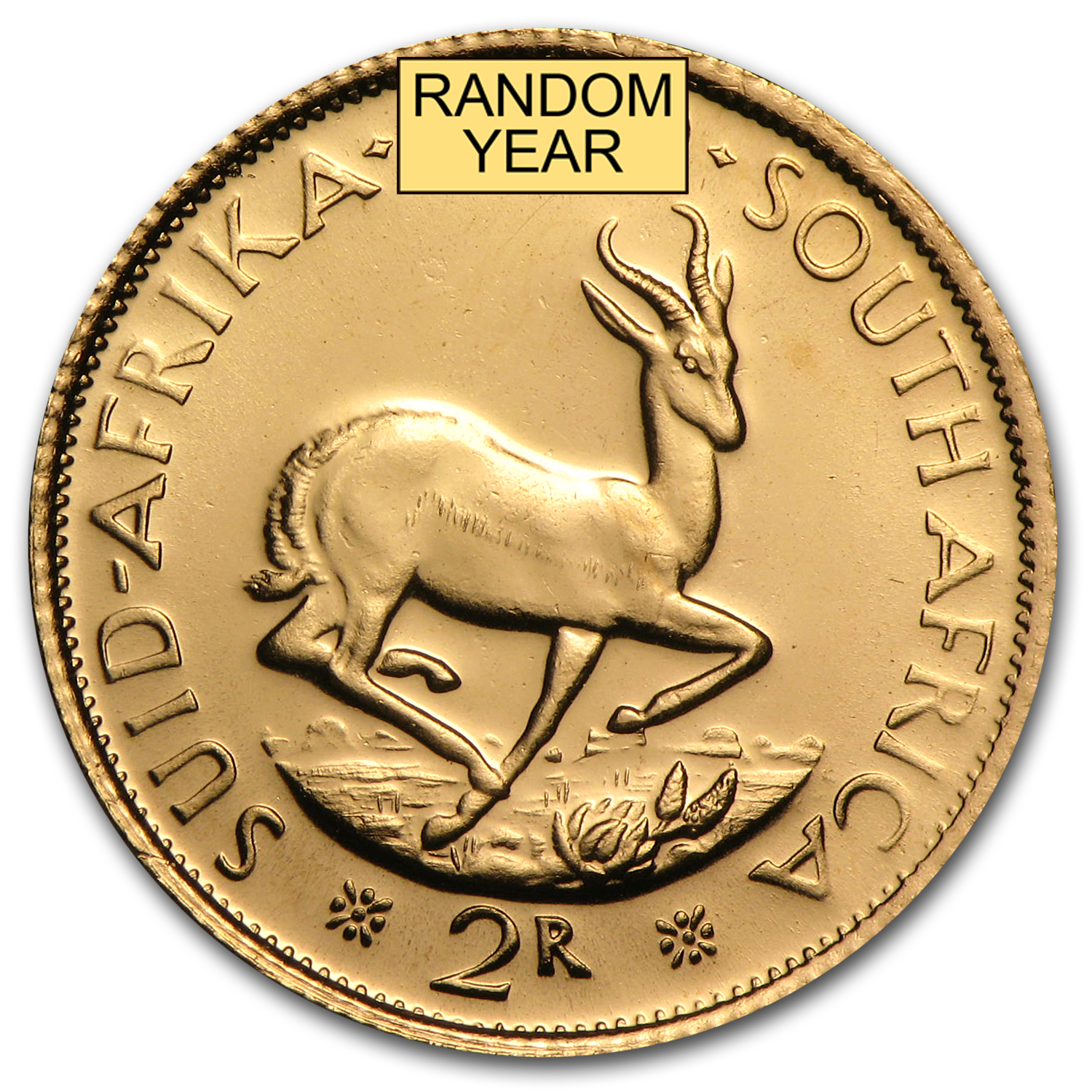 South Africa Gold 2 Rand AU (Random)