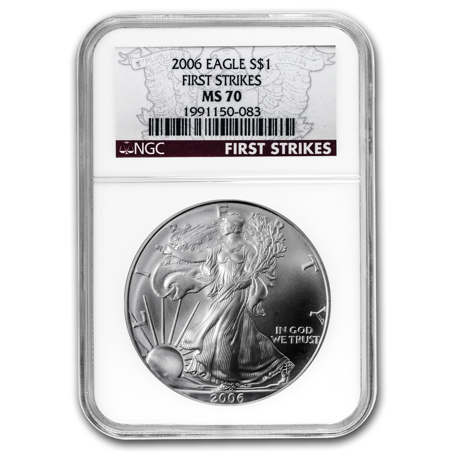 2006 Silver American Eagle MS-70 NGC (First Strike)