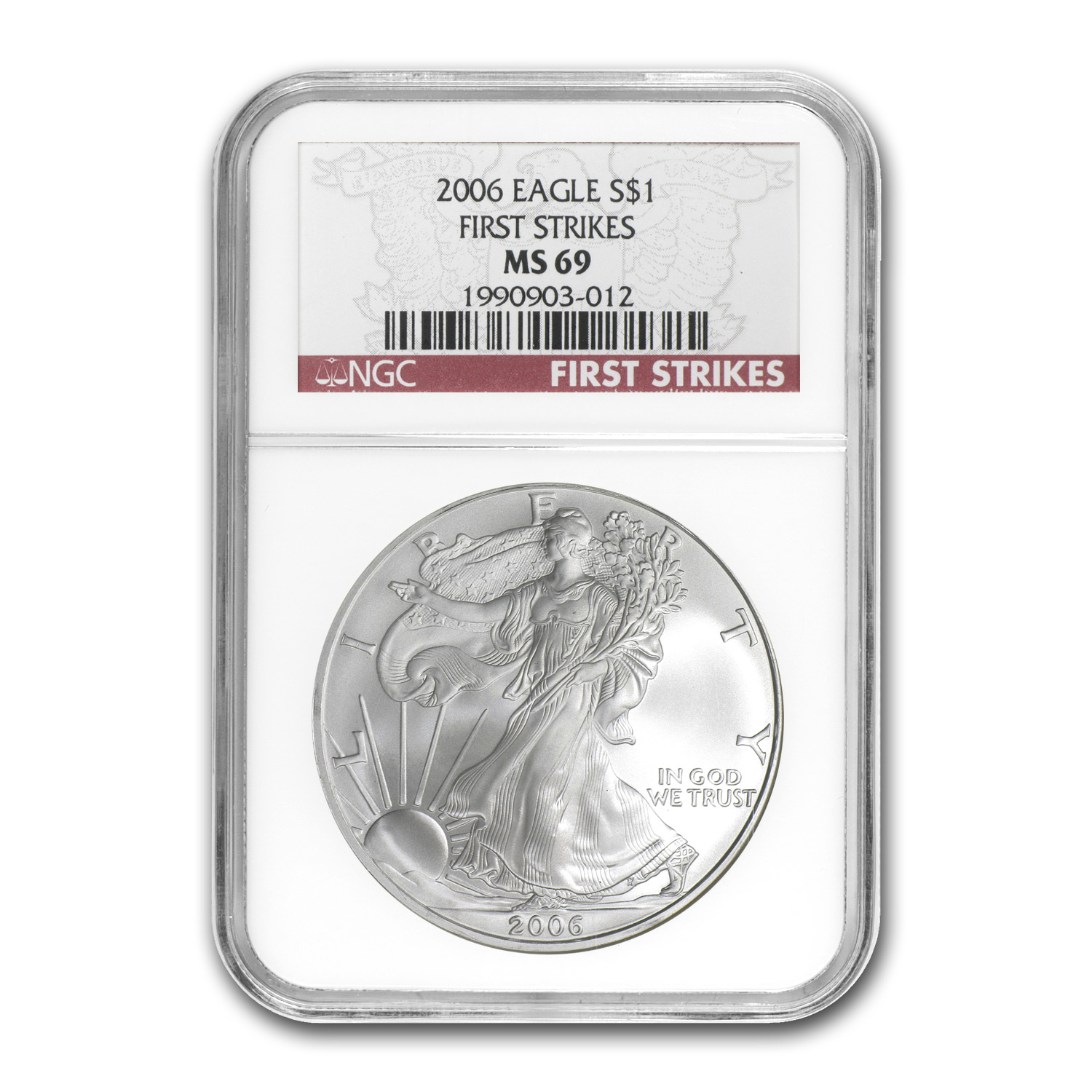 2006 Silver American Eagle - MS-69 NGC - First Strike
