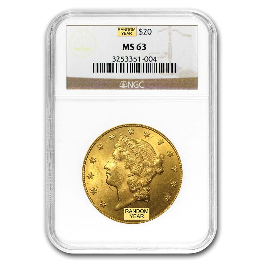 $20 Liberty Gold Double Eagle MS-63 NGC (Random)