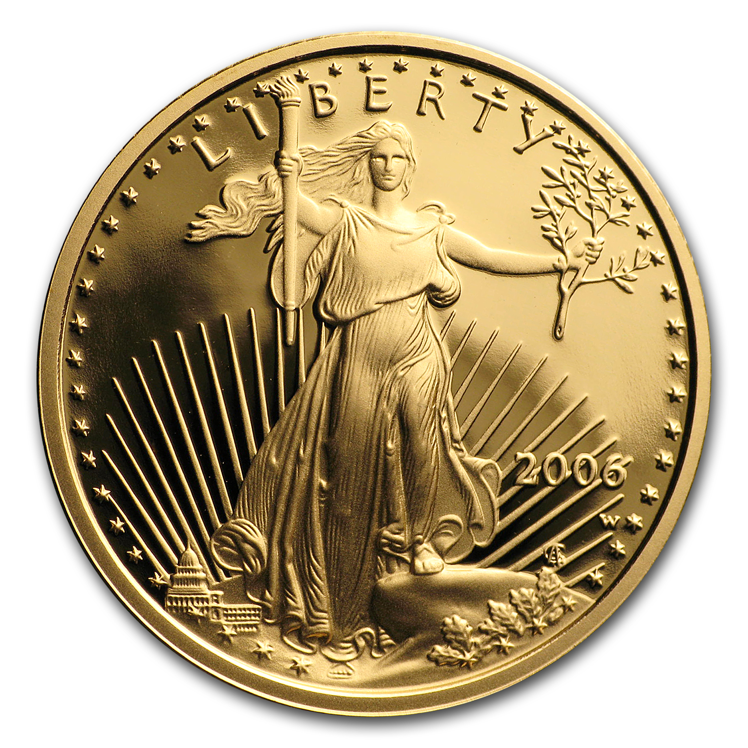 2006-W 1/4 oz Proof Gold American Eagle (w/Box & CoA)