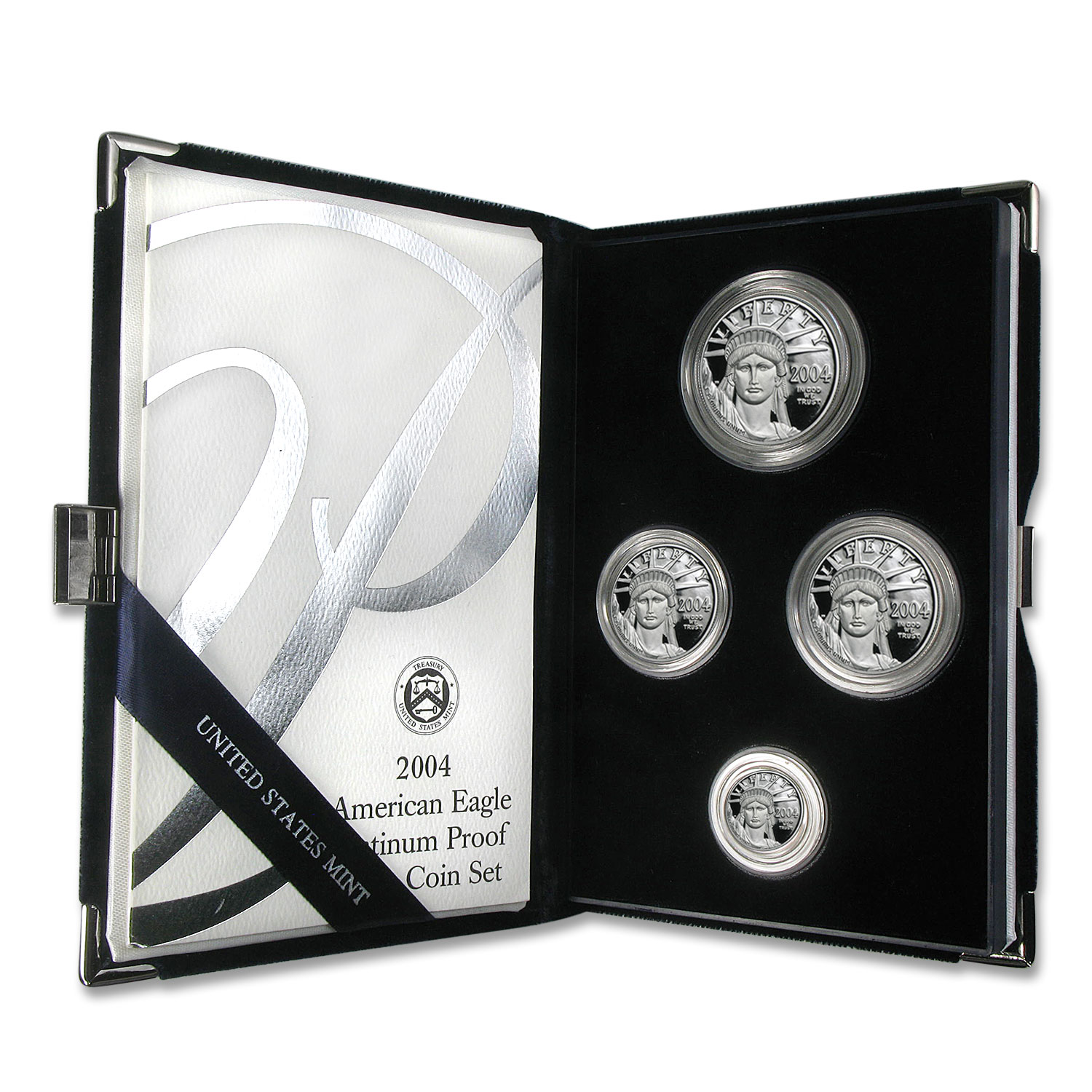 2004-W 4-Coin Proof Platinum American Eagle Set (w/Box & COA)