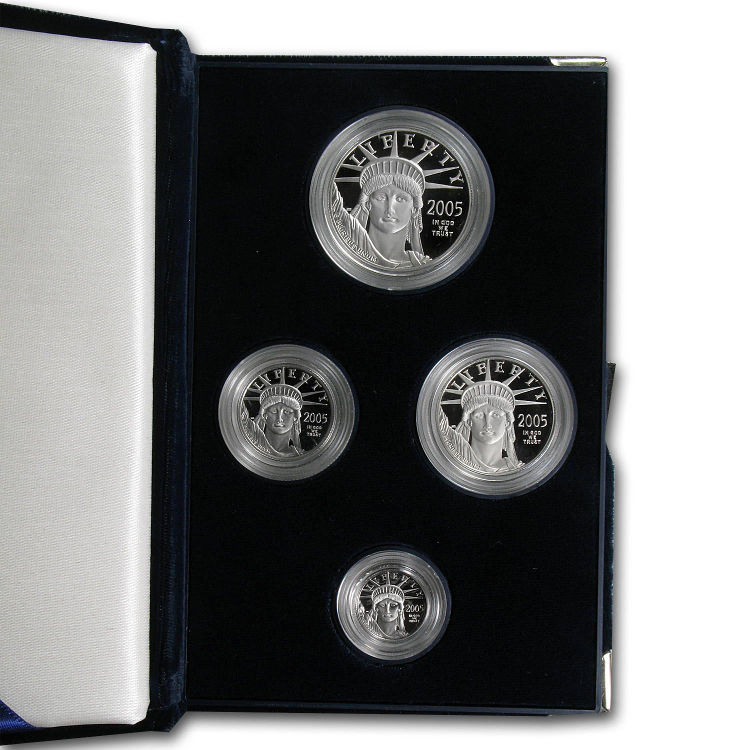 2005-W 4-Coin Proof Platinum American Eagle Set (w/Box & COA)