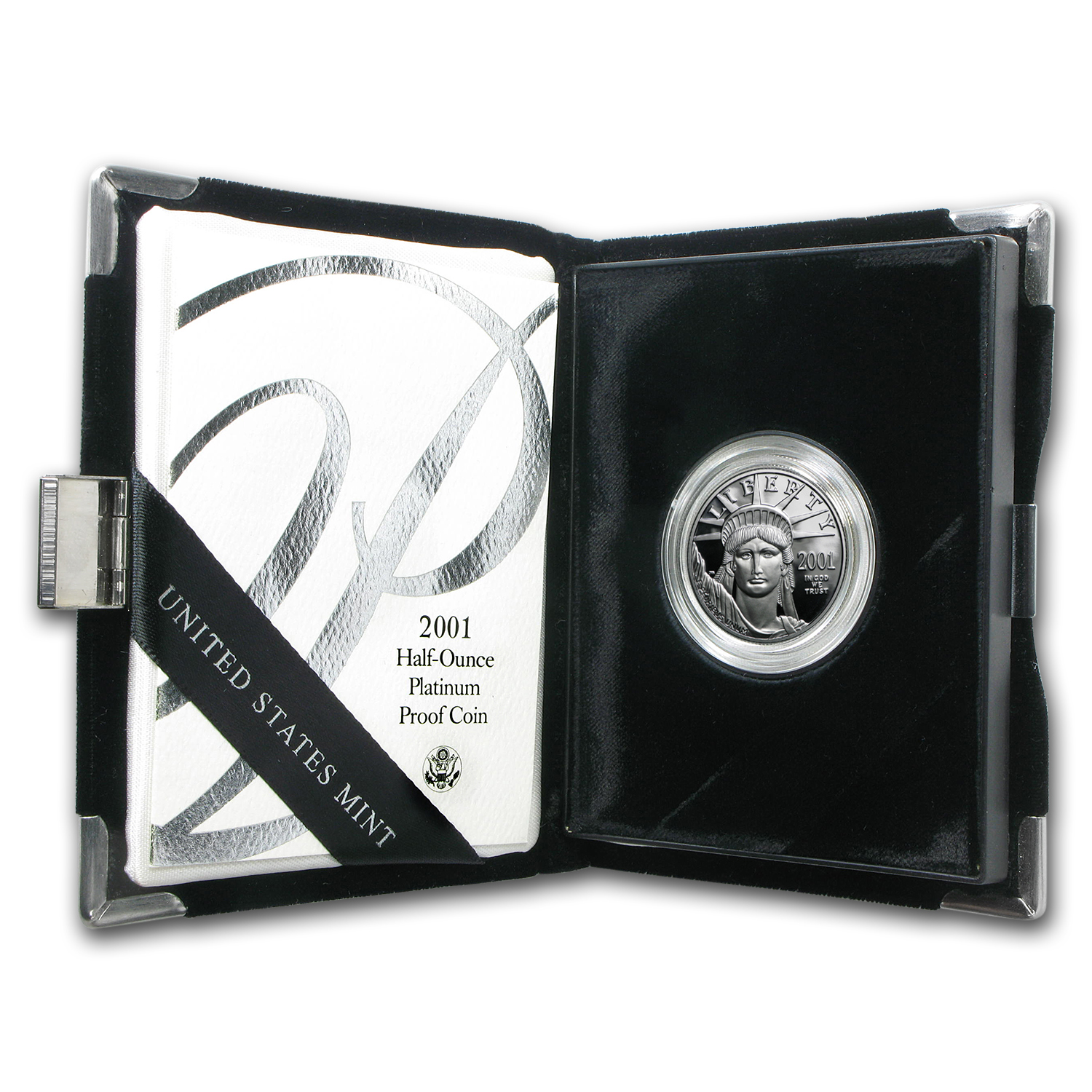 2001-W 1/2 oz Proof Platinum American Eagle (w/Box & COA)