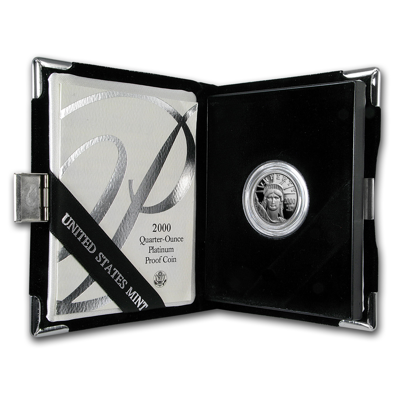 2000-W 1/4 oz Proof Platinum American Eagle (w/Box & COA)