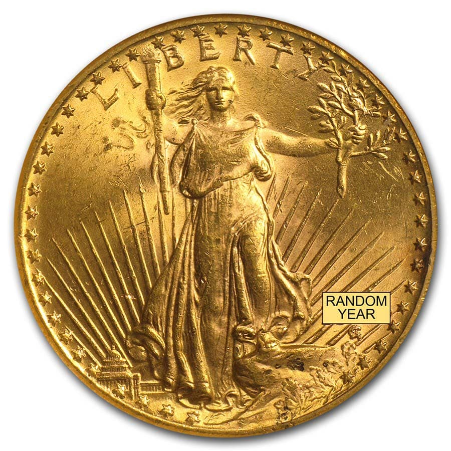 $20 Saint-Gaudens Gold Double Eagle MS-62 NGC