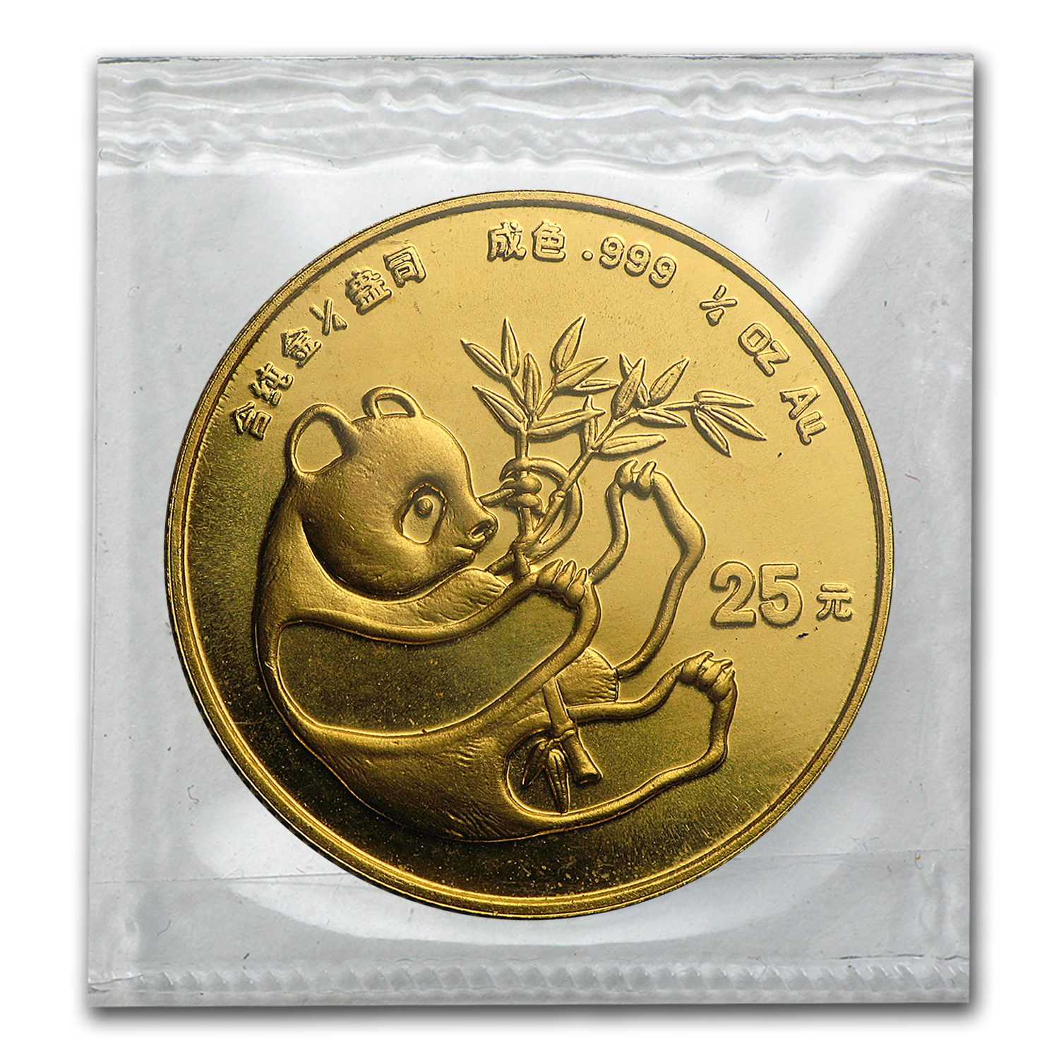 1984 China 1/4 oz Gold Panda BU (Sealed)