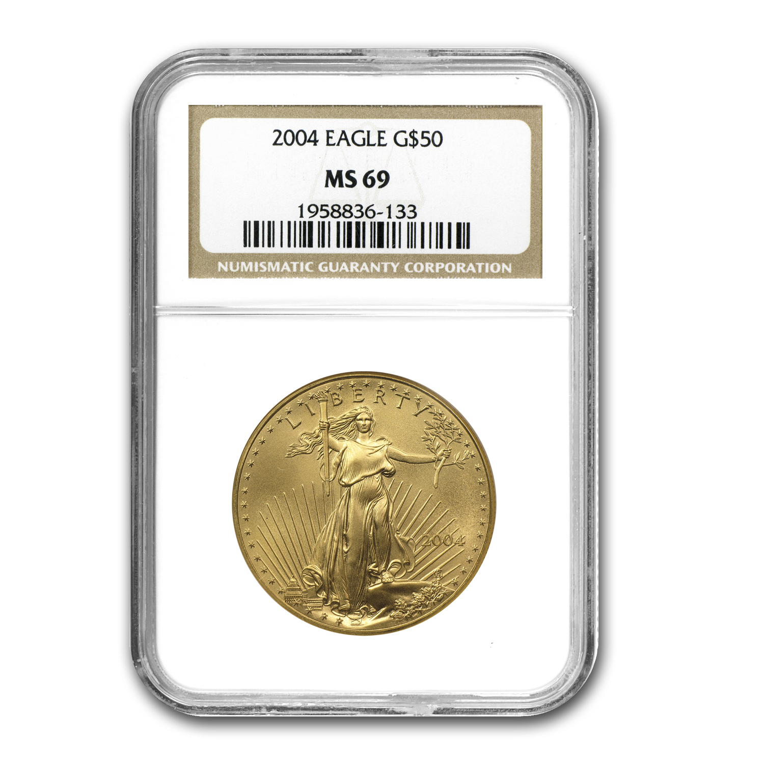 2004 1 oz Gold American Eagle MS-69 NGC