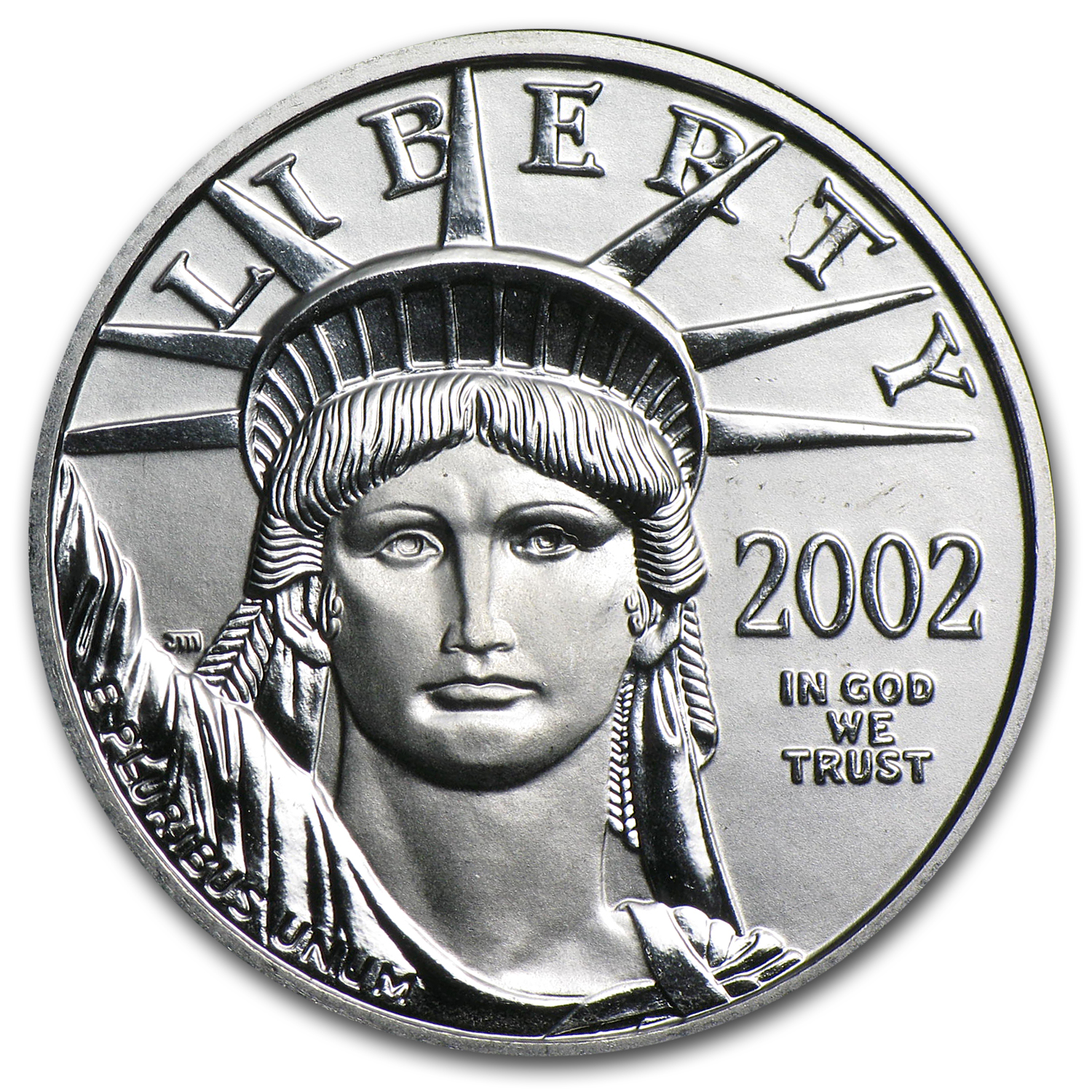 2002 1/4 oz Platinum American Eagle BU