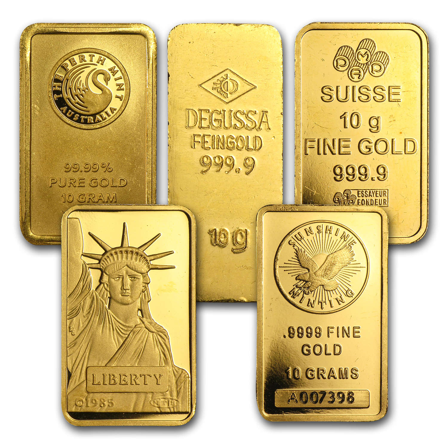10 gram Gold Bars - Secondary Market