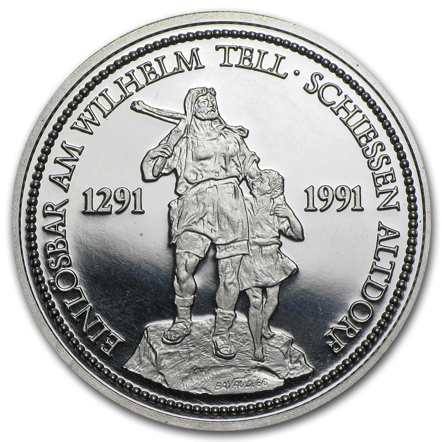 Switzerland 1 oz Platinum Shooting Thaler Proof